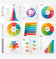 infographic collection 6 options vector image vector image