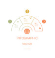 infographic template colourful pie chart vector image vector image