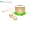 Kumissor or Kazakh Fermented Horse Milk vector image vector image