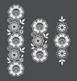 lace long pattern set vertival design vector image