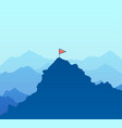 landscape for hiking and climbing vector image vector image