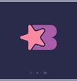 letter b star monogram geometry shape like puzzle vector image vector image