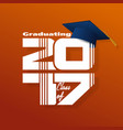 lettering class of 2017 vector image vector image
