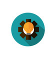 light bulb gear business strategy icon block vector image