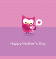 mothers day card mama owl and baby vector image