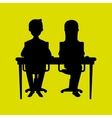Office and business people vector image