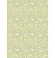 Paisley light green background vector image vector image