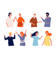 people meeting after isolation happy woman man vector image