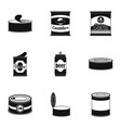 prepared icons set simple style vector image