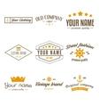 retro vintage insignias logo or logotype set vector image vector image