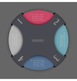 Round design template for infographics vector image vector image