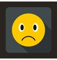 Sad emoticon icon flat style vector image vector image