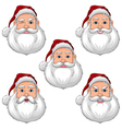 Santa Claus Various Expressions Face Front View vector image vector image