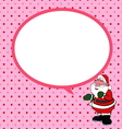 Santa claus with speech bubble vector image