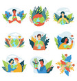 save planet earth protection and care for eco vector image
