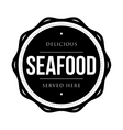 Seafood vintage stamp vector image vector image