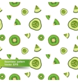 Seamless pattern with slices of vegetables vector image