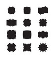 set labels abstract forms vector image