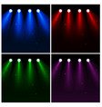 set of light effect spotlights vector image