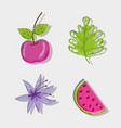 set of summer cartoons vector image vector image