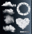 set of transparent different smoke and cloud vector image vector image