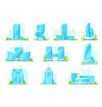 skyscraper building icons business center offices vector image