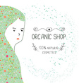 Spa or organic shop banner with girl and nature vector image vector image