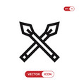 spear icon vector image vector image
