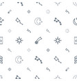 stars icons pattern seamless white background vector image vector image