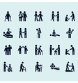 Stick Figures Rescuers and helpers pictograms vector image vector image