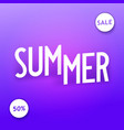 summer sale creative isometric typography vector image vector image