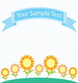 sunflower garden cartoon vector image vector image