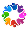 teamwork unity people application vector image vector image