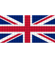 The mosaic flag of United Kingdom vector image vector image