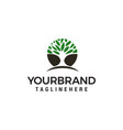 tree logo design concept template vector image vector image