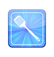version slotted kitchen spoon icon Eps 10 vector image vector image