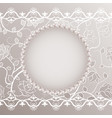 vintage card with lace and pearls vector image vector image