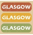 Vintage Glasgow stamp set vector image vector image
