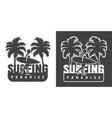 vintage surfing monochrome logo vector image vector image