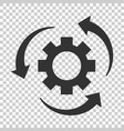 workflow process icon in flat style gear cog