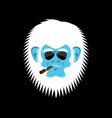yeti serious emoji abominable snowman with cigar vector image vector image