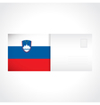 Envelope with Slovenian flag card vector image