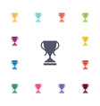 cup flat icons set vector image