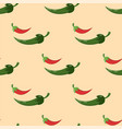 green chili pepper healthy plant seamless pattern vector image