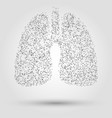 Abstract human lung from dots and lines vector image