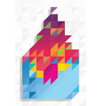 Abstract shape with triangles pattern vector image vector image