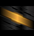abstract yellow light banner on dark gray metal vector image vector image