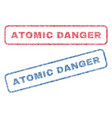 atomic danger textile stamps vector image vector image