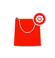 bag buy gear paper settings shopping icon vector image