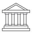 bank building thin line icon architecture and vector image